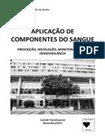 Livreto Comite Transfusional Aplicacao de Componentes Do Sangue