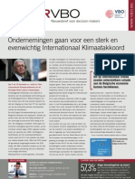 Ondernemingen gaan voor een sterk en evenwichtig Internationaal Klimaatakkoord