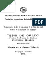 Recuperacion de Oro de Las Arenas de La Mina San Jose