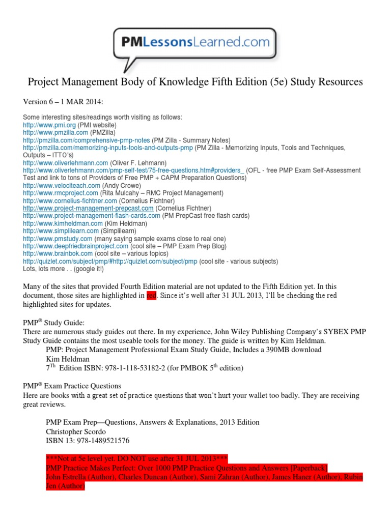 pmll pmbok 5e study resources v6 mobile app project management