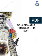 Solucionario Prueba MT-111 2011 OK