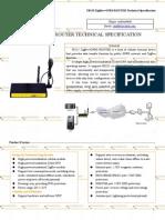F8125 ZigBee+GPRS ROUTER SPECIFICATION