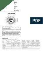 Citizen Instruction Manual C460