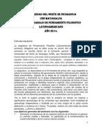 FILOSOFIA LATINAOAMERICANA 2014