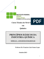 Apostila - Princípios Básicos Da Indústria Química - Mod -I - IfS - FLGL - 2013