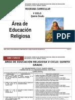 Educación Religiosa 5º Grado RUTAQS