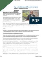 Modificarán en Código Artìculos Sobre Difamación e Injuria - Diario DigitalRD.com…Tu Conexión Con La Verdad
