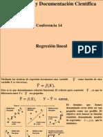 Conferencia 14 Regresión Lineal