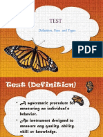 Test Uses and Types