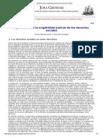 Apuntes Sobre La Exigibilidad Judicial de Los Derechos Sociales