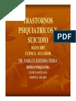 Trastornos Psiquiatricos y Suicidio