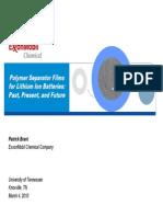 Polymer Separator Films
