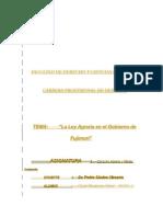 Leyes Agrarisa en El Gobierno de Fujimori