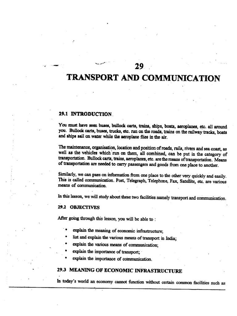L-29) Transport and Communication