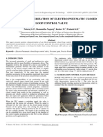 Position Characterization of Electro-pneumatic Closed