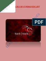 Backtrack Commands List