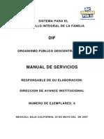 Manual de Servicios DIF ESTATAL