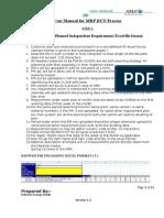User Manual for MRP run