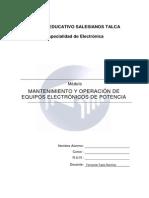 EN6 Mantenimiento y Operacion de Equipos Electronicos Con Potencia