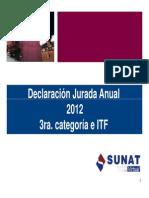 Renta de Tercera Categoria 2012 11022013