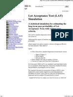 Lot Acceptance Test, LAT, S...