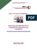 Analisis de Proyectos y Conceptos Basicos de Finanzas - Braddy Porras