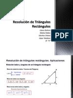 Matemática Resolución de Triángulos Rectángulos