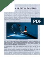 Werden Sie ein Private Investigator