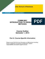COMM8001 Course Outline Parts AB S2 2014