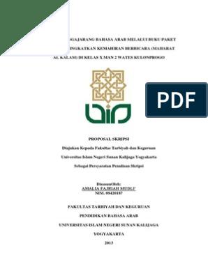 Contoh Proposal Bahasa Arab Kuantitatif Ilustrasi