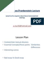 Bladerunner and Frankenstein Lecture Notes