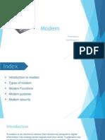 Ravi Namboori babson - Modem Presentation