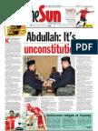 The Sun Malaysia Cover (24 Mar 2008)