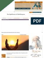 The Significance of Dakshinayana