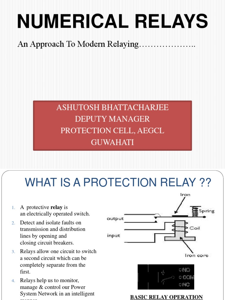 Numerical Relays Relay Magnetic Field Power How It Works