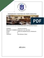 Organización y Funciones Del Poder Legislativo