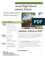 Ridgewood 2012 SummerSchool Brochure