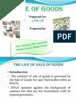 Sale of Goods (LATEST)