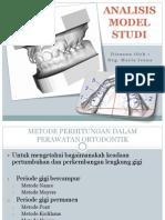 Analisis Model Studi