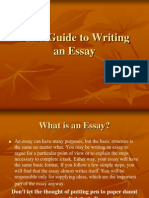 Basic Guide to Writing an Essay[1]