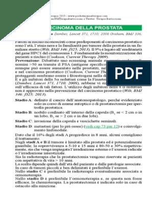 trattamento del carcinoma della prostata pdf