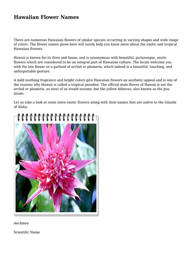 Hawaiian flower names landscape architecture flora izmirmasajfo