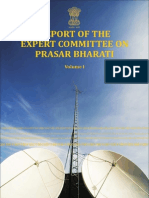 SAM PITRODA COMMITTEE REPORT ON PRASAR BHARATIPrasar Bharati January 2014 -Vol 1