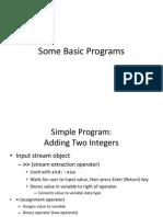 Some Basic Program