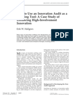 Innovation Audit as Learning Tool