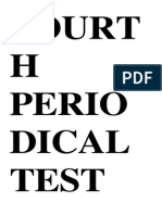 Fourth Periodical Test in English Vs