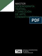 Máster en Escenografía Teatral y Dirección de Arte Cinematográfica, Escuela TAI