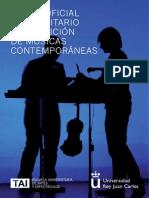 Grado Oficial en en Composición de Músicas Contemporáneas, Escuela TAI