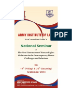 "National Seminar on ""The New Dimensions of Human Rights Violations in the Contemporary Times"