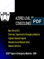 Altered Level of Consiousness